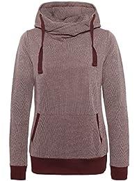 SUBLEVEL Damen Kapuzenpullover   Sweatshirt   Leichter Hoodie im einzigartigem Melange Look
