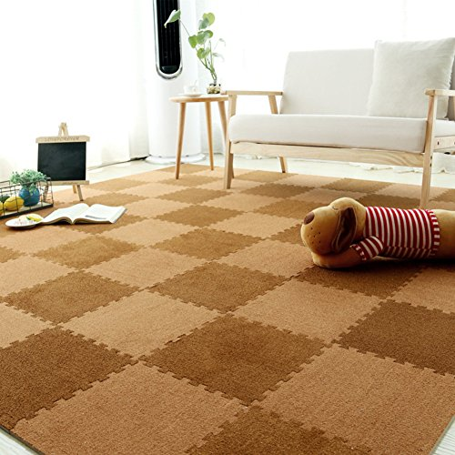 Preisvergleich Produktbild Teppiche Bereich Rund Stitching teppich Schaumstoff-matte Kinder Tatami Home Wildleder Spiel decke Verdickung Nicht-Slip Schlafzimmer Climbing mat-BR
