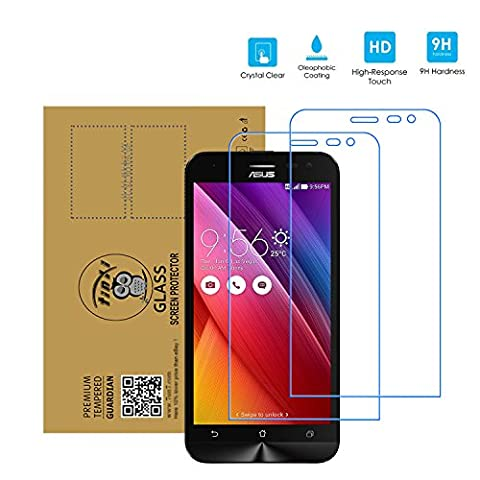 tinxi® 2x Protection écran Asus ZenFone 2 Laser(ZE500KL/ZE500KG)5,0 Pouces Smartphone Film de protection d'écran en verre trempé Protecteur optimal et ultra dur Screen Protector Transparent 2.5D (Pas pour Asus Zenfone 2 Laser ZE550KL 5,5 Pouces)
