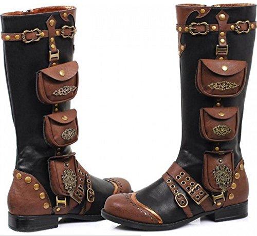 Stiefel Schuhe Boots braun schwarz vintage Taschen Pirat Gothic Ellie (US10 (40)) (Ellie Schuhe)