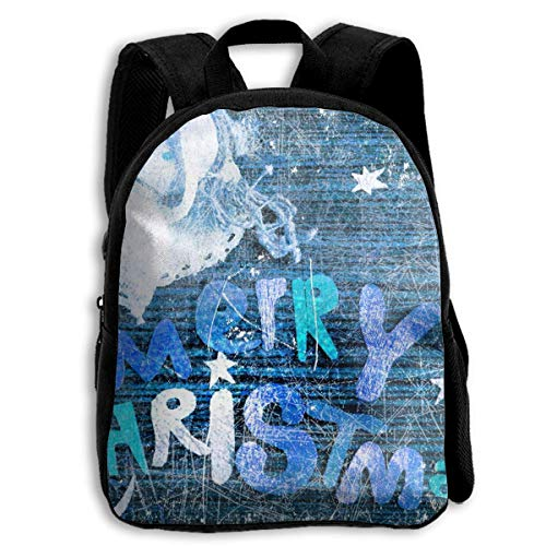 HOJJP Schultasche School Season Kids Backpack Bookbag,Child Frozen Merry Christmas Shoulder Bag