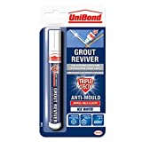 UniBond Grout Reviver Pen / Anti-mould grout pen for bathroom, kitchen, shower and floor tiles / 1 x 7ml