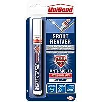 UniBond 1878160 - Rotulador de lechada de triple protección (7 ml), color blanco, 1878160