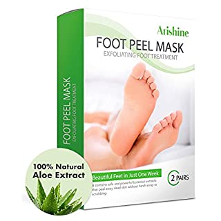 Foot Peel Mask, Exfoliating Foot Mask, Peels Away Calluses and Dead Skin - Get Soft Baby Foot Naturally in 1 Week (2 Pairs)