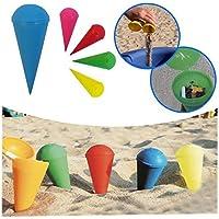 Vetrineinrete® Posacenere da spiaggia conico tascabile portacenere cono da viaggio mozziconi di sigarette vari colori E32