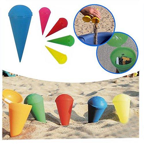 Vetrineinrete posacenere da spiaggia conico tascabile portacenere cono da viaggio mozziconi di sigarette vari colori p56