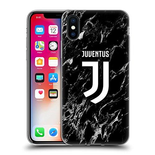 Head case designs ufficiale juventus football club nero 2017/18 marmoreo cover morbida in gel per iphone x/iphone xs