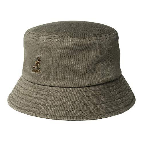 Kangol Sombrero de Pescador Washed Verde Oliva - L