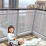 Durable résistant aux intempéries Imperméable Réglable Enfant Bébé Kid infantile balcon et clôture Stairway Balustrade en maille filet de protection de sécurité( gris )
