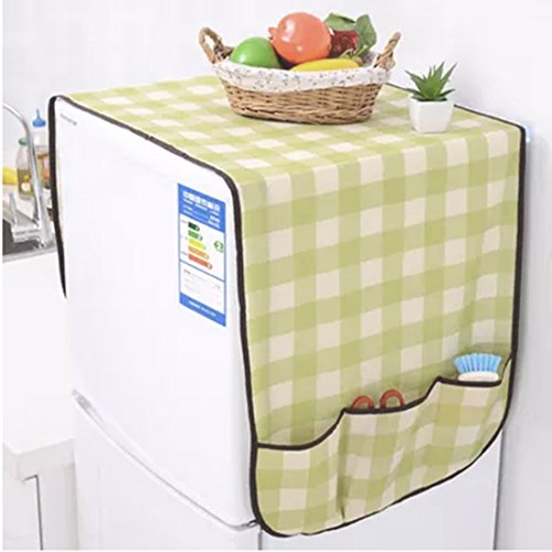 sourcingmap® Gittermuster Kühlschrank Kühlschrank Staub Proof Cover Aufbewahrungsbeutel
