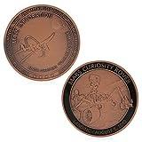 JIACUO Exploration Rotbronze Überzogene Gedenkherausforderung Münzen Sammlung Geschenk -