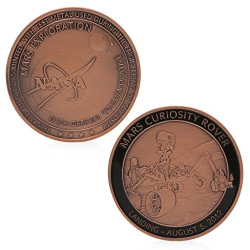 MAZE MA NASA Exploration Red Bronze Plated Gedenk Herausforderung Münze Sammlung Geschenk -