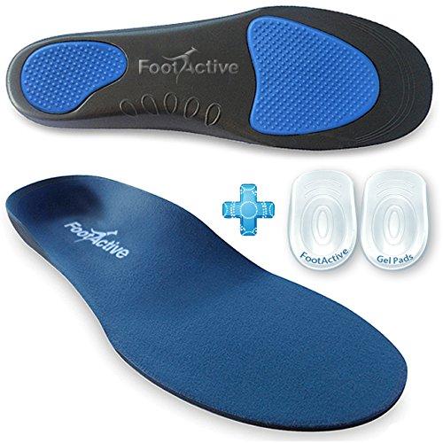 FootActive COMFORT - Original Marken Einlegesohlen - Herrlicher Laufkomfort für Füße, Beine und Rücken, speziell bei Fersensporn (44- 46 L)