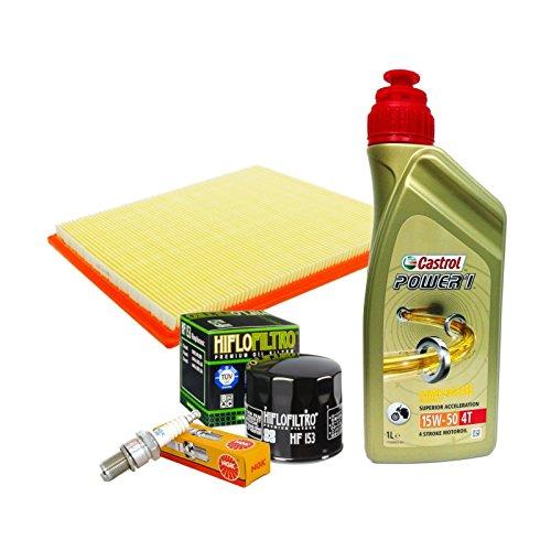 Kit tagliando Castrol 15W50 filtro olio aria candele Monster S2R 620 695 800