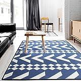 SESO UK Nordic Geometric Carpet weichen bequemen Anti-Rutsch-großen Teppich für Schlafzimmer Bett Wohnzimmer Wohnzimmer Dekoration Blended Dicke-9mm (größe : 160X230cm)