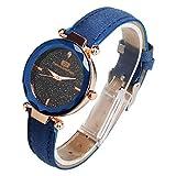 Darringls_Reloj Denton Sidpega,Reloj Analogico para Mujer de Cuarzo Mujeres Moda Mujer Reloj de Pulsera Relojes de Pulsera de Cuarzo Correa de Cuero Cuero Reloj Casual Lujo analógico Cuarzo Cristal