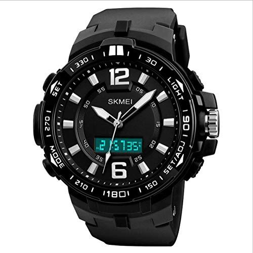 Asd orologio elettronico da uomo con cinturino in poliuretano per 3 ore, orologio sportivo da uomo,black