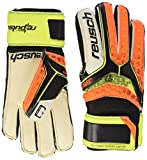 Reusch Kinder Re:Pulse SG Finger Support Easy Fit Junior Torwarthandschuh, Black/Shock Orng, 5