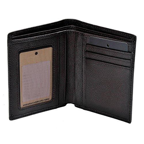 Kingstar uomo Multi schede rfid Checkbook-Portafogli in