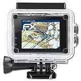 atFoliX Panzerfolie für IceFox Action Cam 4k I5 Folie - 3 x FX-Shock-Clear stoßabsorbierende ultraklare Displayschutzfolie