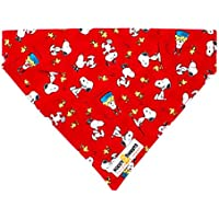 Bandama con dibujos de Snoopy, de Noddy & Sweets, color rojoTamaño medio.