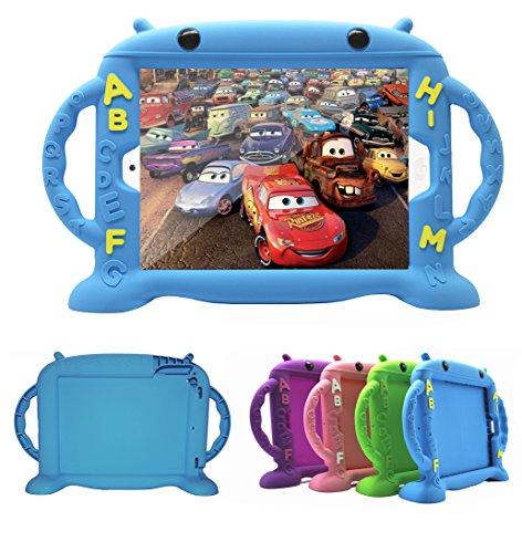 Estuche para iPad Air Kids, Funda para iPad Air 2, Estuche para niños CHINFAI para niños/Estuche para Prueba de Golpes con Estuche/Mango para iPad/iPad/Air 5 / iPad 5 2017 nuevos/iPad 5 6 (Azul)