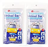 2 Packs of 4 Disposable Urinal Bags - Compact and Portable urinals for men and women - A Discreet Alternative to Urine Bottles - Great for Camping Trips and Festival Bags