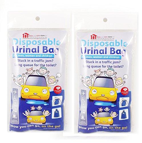 2Packungen von 4Einweg Urinal Taschen–Kompaktes und tragbares Urinal für Damen und Herren–Eine Diskrete Alternative zu Urin Flaschen–Ideal für Camping-Ausflüge und Festival Taschen