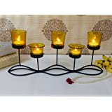 TiedRibbons Tlight Candles Diwali Décor (Yellow) | Diwali Decoration Items For Home | Tealight Candle Holder Glass For Home Decoration | Diwali Lights For Decoration | Corporate Gifts For Employees