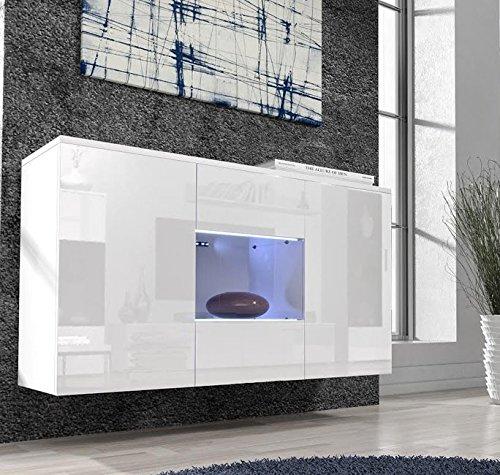 Letti e Mobili – Credenza Varedo bianco con LED