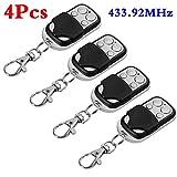 Leoie 1Pc / 2Pcs /4Pcs Universal Cloning Remote Control Key Fob for Car Garage Door Electric Gate 4pcs