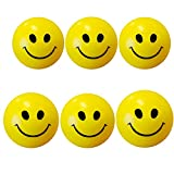 Abee Sponge Stress Reliever Smiley Ball (Multicolour) - Pack of 6