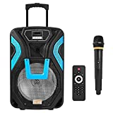 LTC ROCK PA200 Mobiler Bluetooth Lautsprecher / SD / USB-FM + REC + AUX / MIC / RGB Stereo Party Soundsystem 600 W