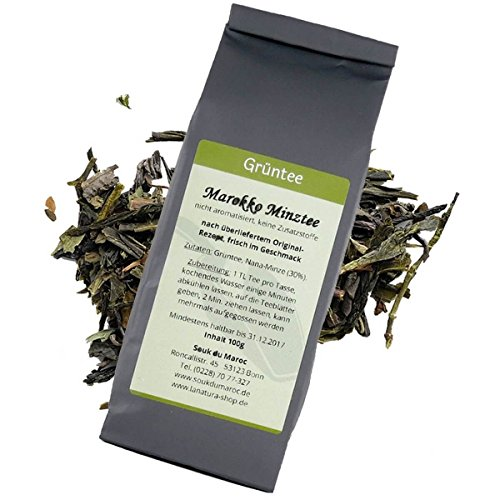 Minztee marokkanische grüne Minze Tee Grüntee Cay Chai Tea aus Marokko Nana-Minze 100g (Marokko-minze-grüner Tee)
