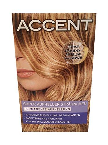 Accent Haarfarbe Super Aufheller Strähnchen Permanente Aufhellung - BLOND -