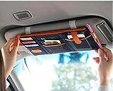 Midmade Multifunctional Sun Visor Storage Bag Car Hanging Bag Storage Organizer Bags Card Case Pockets