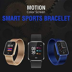 2019 Neue Intelligente Uhr, Multifunktionssportuhr Der MäNner/Frauen/Jungen/des MäDchens,StahlgüRtel Smart Watch Bluetooth Herzfrequenz Blutdruck Sport Step Watch
