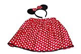 GIZZY? Little Girls Minnie Mouse Set with Skirt and Ears Headband. by GIZZY