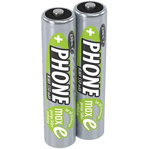 ANSMANN Akku Batterie für Schnurlostelefon Micro AAA 1 2V/550mAh/Wiederaufladbare Telefonakkus mit geringer Entladung & ohne Memory Effekt Ideal für DECT-Telefone (2er Pack)