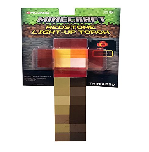 ThinkGeek Antorcha con luz Minecraft, 30 cm
