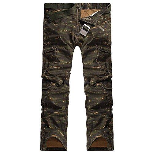 PODOM Uomo multitasche sport esterni di grandi dimensioni Tute Casual Pantaloni Camo 1