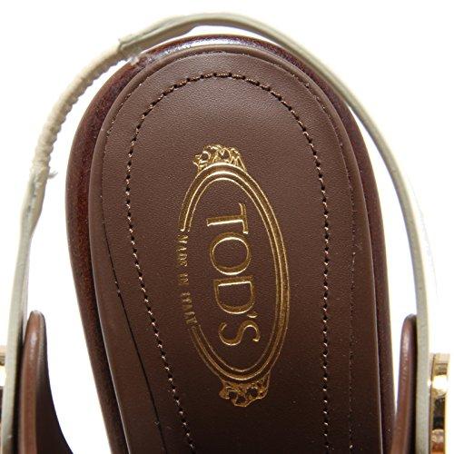 8588I sandali donna TOD'S bottone scarpe sandals shoes women cuoio scuro