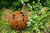 Dekokugel, Rost Ø: 23cm, Blume