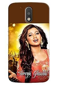Omnam Shreya Ghosal Printed Designer Back Cover Case For Motorola Moto G4
