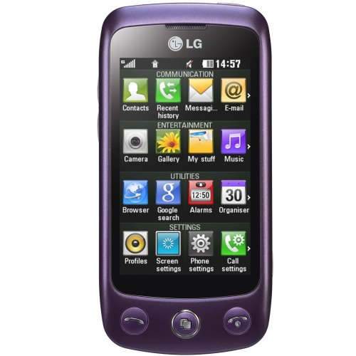LG GS500 Cookie Plus Smartphone (7.62 cm(3 Zoll) Touchscreen, 3.5mm Klinkenanschluss) imperial purple