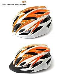 sprigy (TM) PVC de alta calidad uniCase bicicleta casco de seguridad Casco de ciclismo para bicicleta Cabeza Proteger Custom Cascos de bicicleta MTB OFF ROAD, naranja