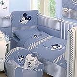 Edredón Tuttomio Mickey Mouse de Disney Mickey Mouse () con funda de almohada cuna y cojín Puf desenfundable.