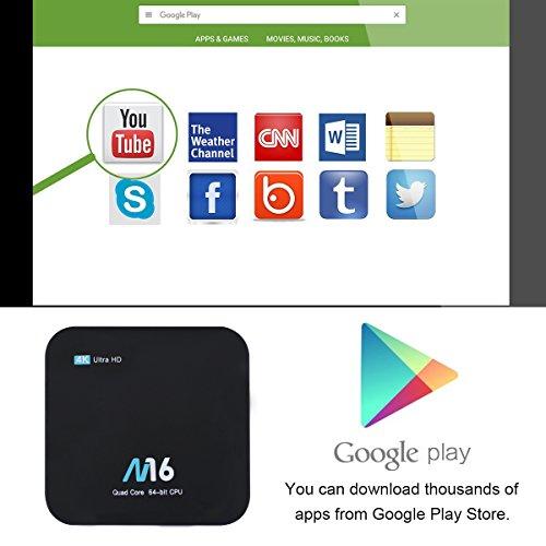 TV Box Android 7.1 – VIDEN Smart TV Box Amlogic S905X Quad-Core, 1GB RAM & 8GB ROM, Video 4K UHD H.265, 2 Porte USB, HDMI, WiFi Web TV Box + Telecomando [Nuova versione] - 6
