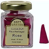 Luxus Duft Räucherkegel - Rose - Räucherkerzen Duftkegel 15 Stück im Glas preisvergleich bei billige-tabletten.eu