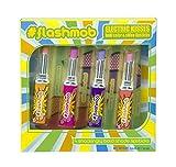 Flashmob Electric Kisses – Liquid Voltage Lippenstift-Set in 4 kräftigen, knalligen Farben (rosa, pink, lila, apricot) – deckend und glänzend